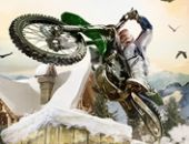 Inverno Acrobacias De Bicicleta